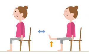 コロナ,対策,COVID-20,自宅,在宅,自粛,運動,椅子,膝伸ばし